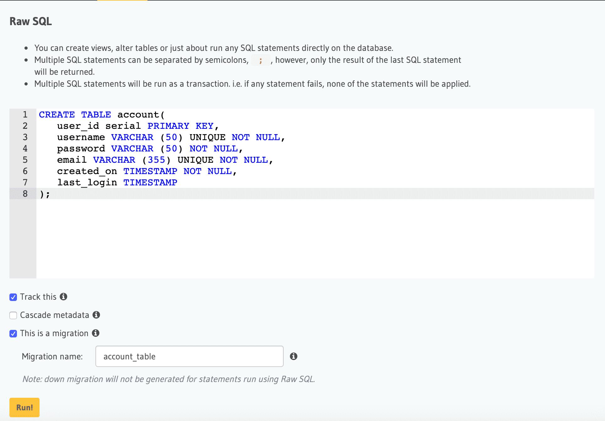 Building a UI for PostgreSQL Database Migrations