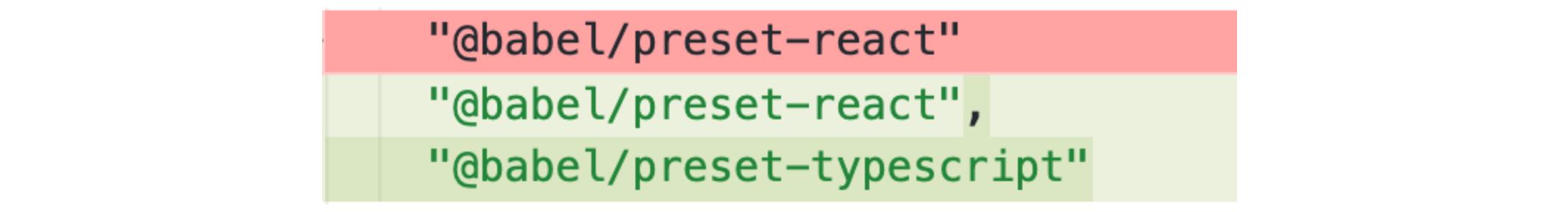 .babelrc react typescript