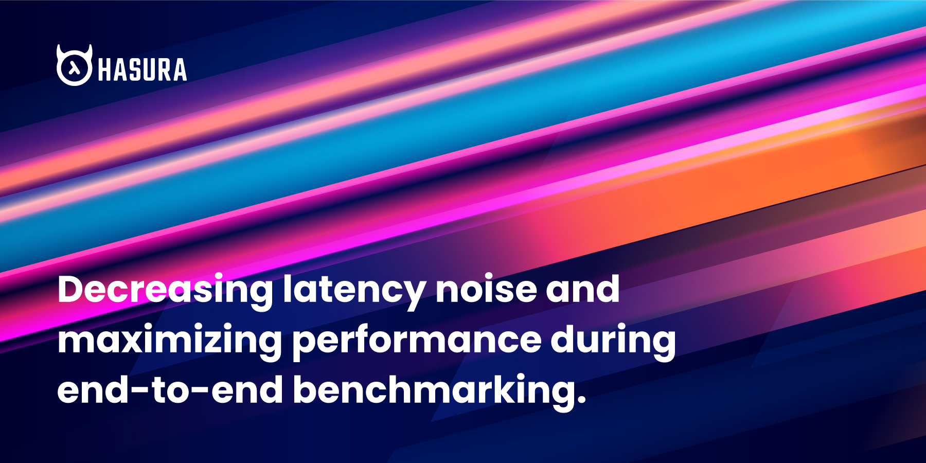 Decreasing latency noise and maximizing performance during end-to-end benchmarking
