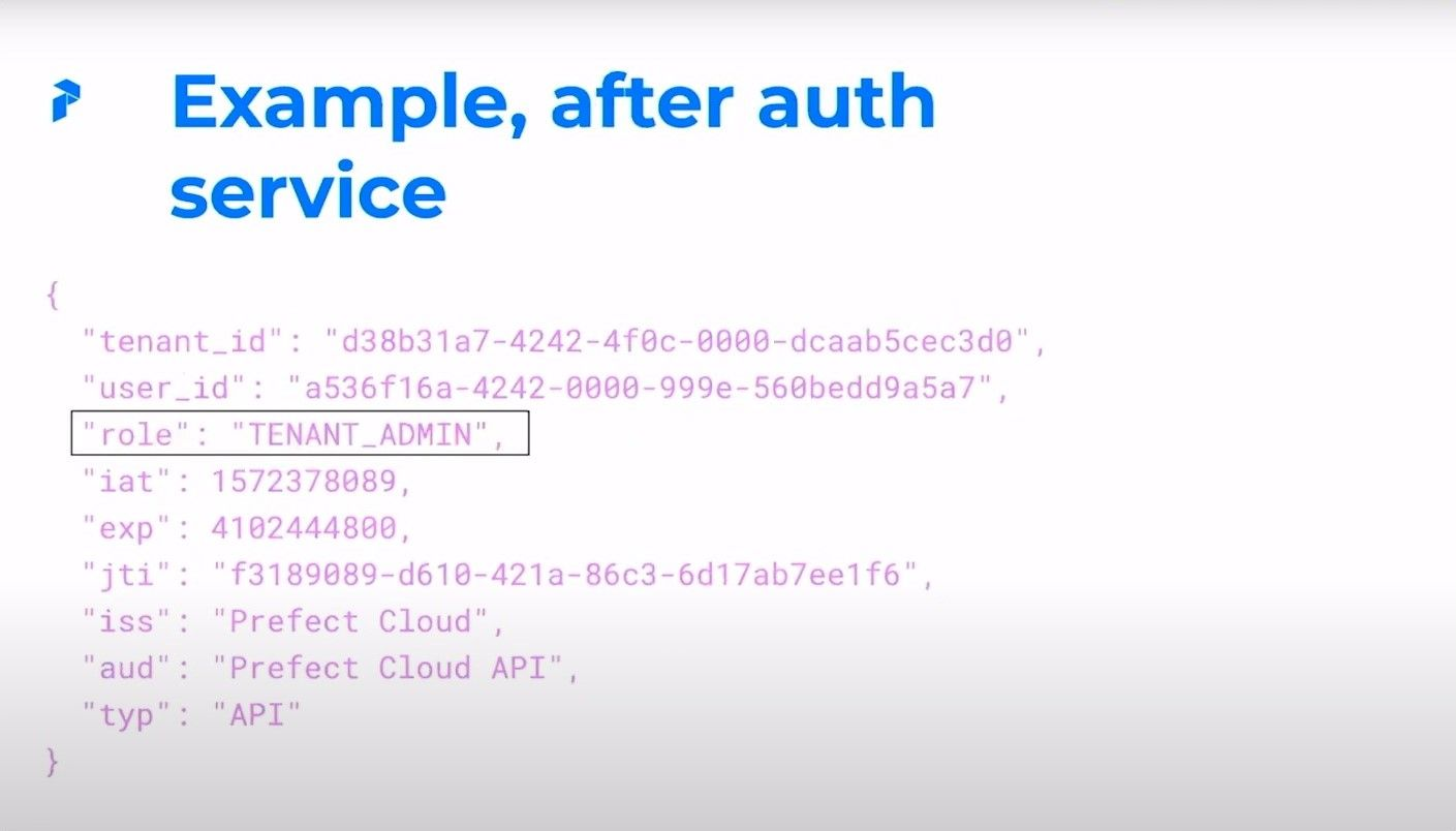 Example, after auth service