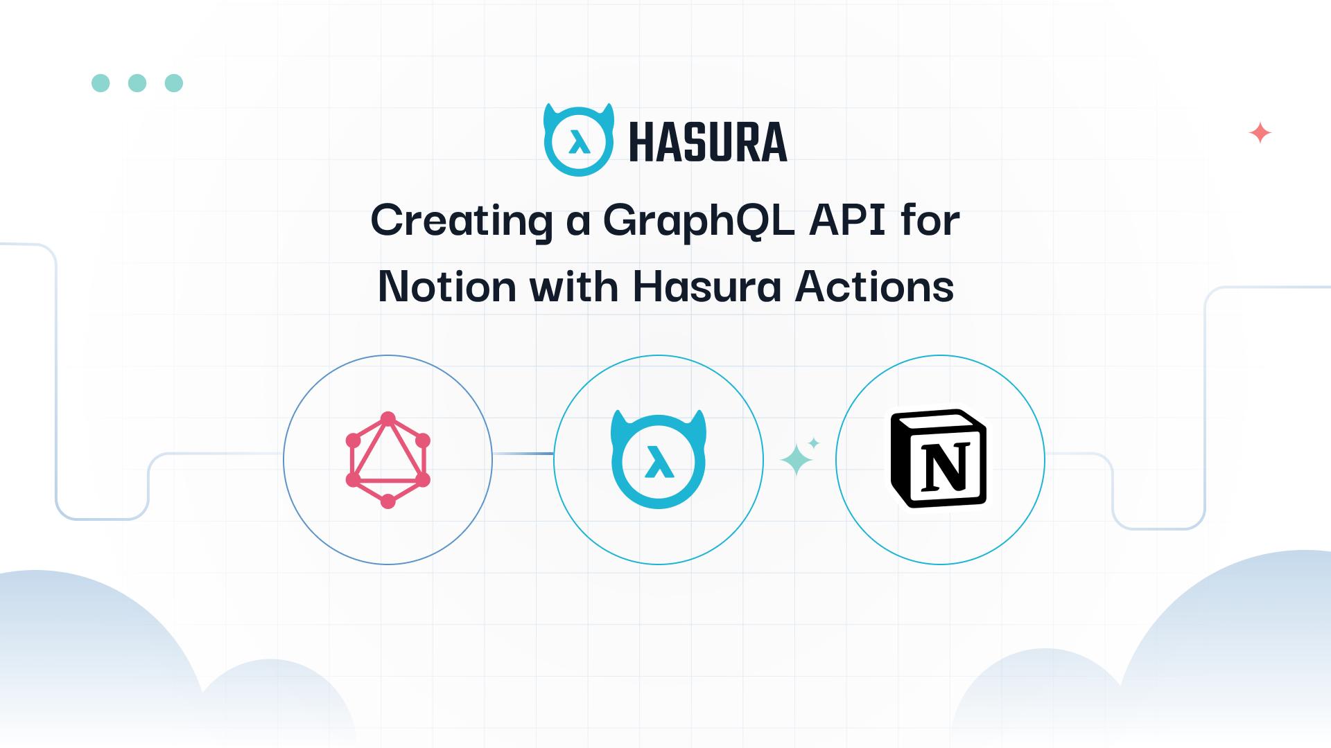 Convert Notion REST API to GraphQL API using Hasura Actions