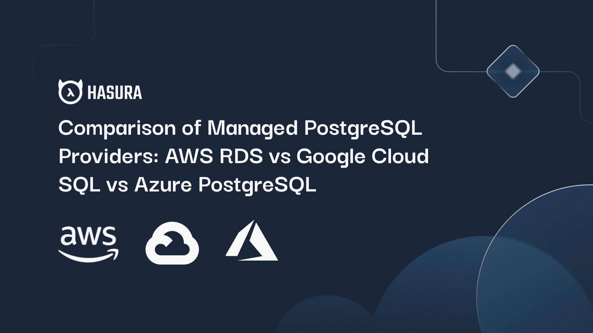 Comparison of Managed PostgreSQL Providers