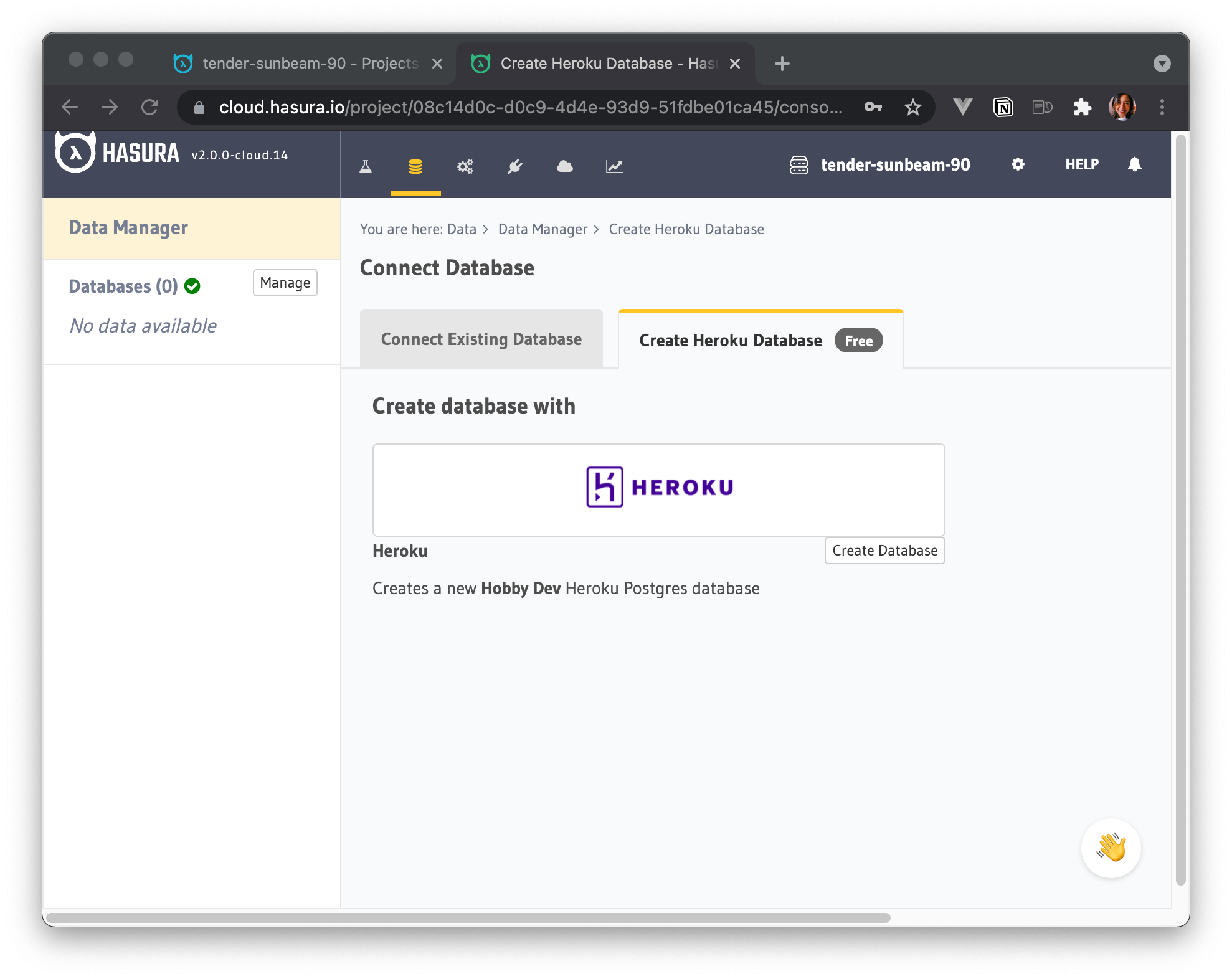 Connect a Database to Hasura