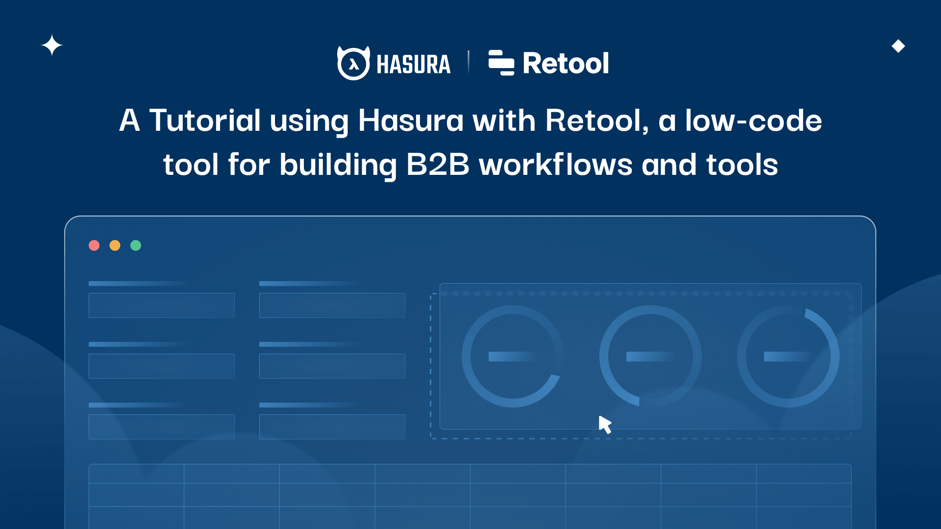 Tutorial: Integrating Hasura with Retool—A low-code tool for building B2B workflows & tools.