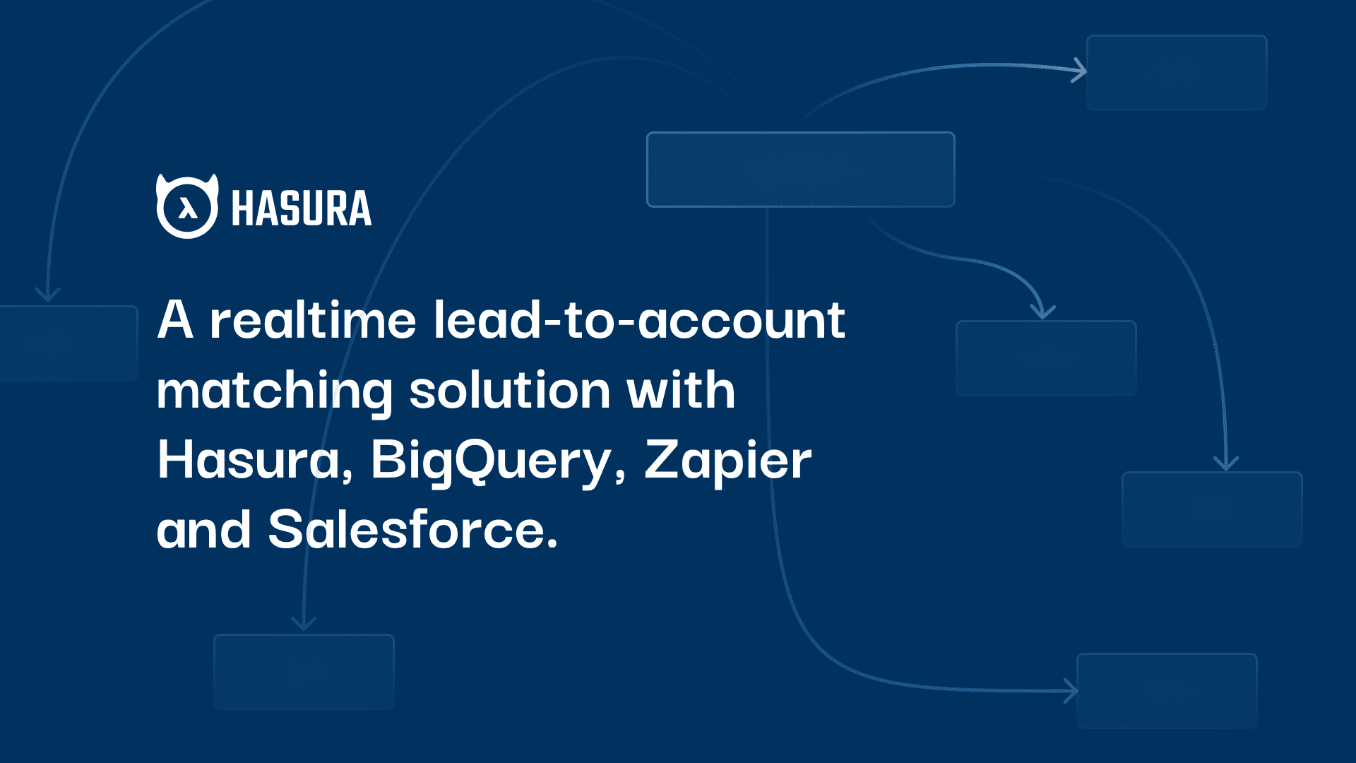 How our marketing ops team built a realtime lead-to-account matching solution with Hasura, BigQuery, Zapier and Salesforce.