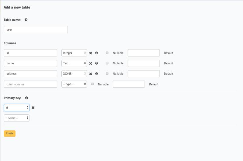 Working with schemaless data using GraphQL on Postgres