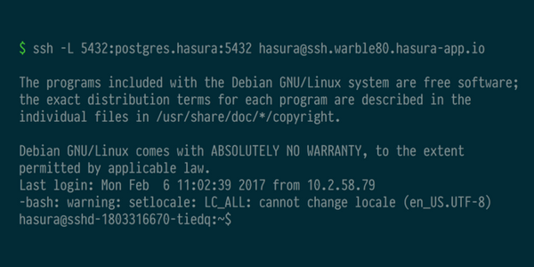SSH access to your microservice cluster #HasuraPaaS